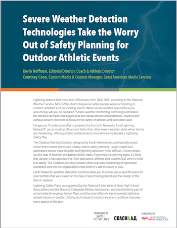 COACH & ATHLETIC DIRECTOR RECOMMENDS LIGHTNING DETECTION FOR OUTDOOR SAFETY.